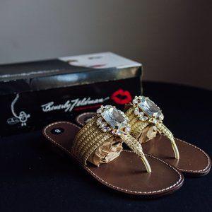 Beverly Feldman's Queen of Love Leather Sandals